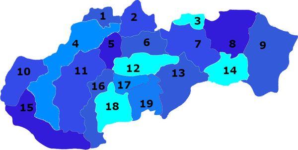 tradičné slovenské regióny - kvíz